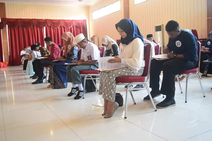 Peserta disaring dari 67 jadi 5 Duta setelah melalui tahap tes tertulis, wawancara dan pemaparan materi serta sesi tanya jawab.