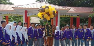 Moment terakhir Upacara Bendera SMAPAT Bantaeng.